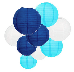 Lanterne Bleu / Blanc