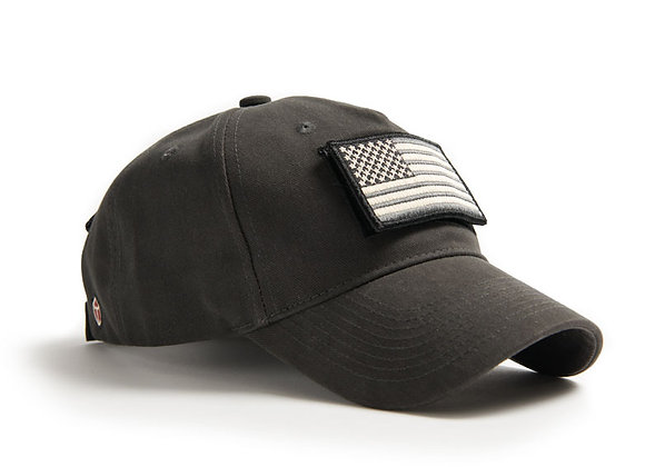 U.S. FLAG CAP - Made of 100% brushed cotton twill. Imported.