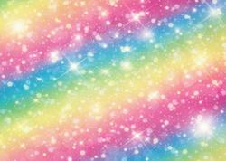 Arc-en-ciel-brillant 5X7