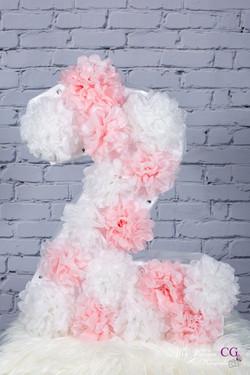 Chiffre 2 - rose&Blanc