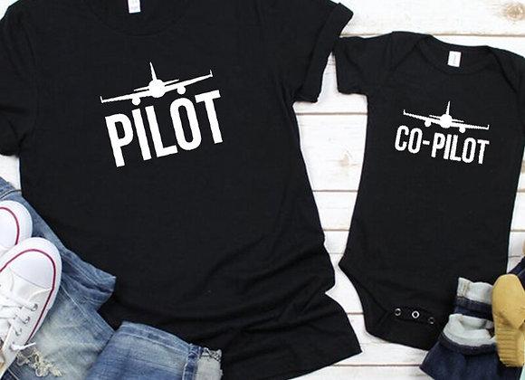 Dad and Baby Pilot Shirt