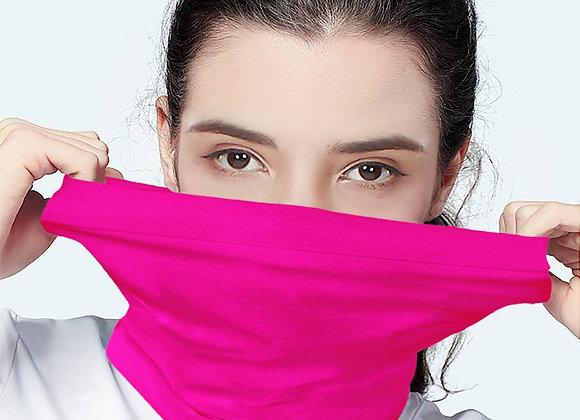 Solid Princess Pink Scarf Wrap Mask | Fashion Face Mask