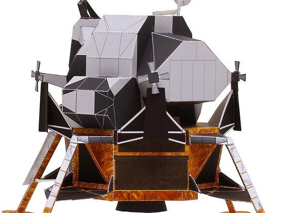 Space Apollo Lunar Module Folding Cutting Mini Handmade 3D Paper Model