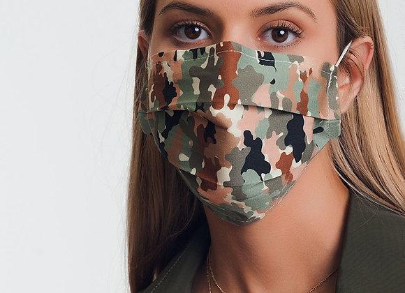5 PACK Camo Print Mask