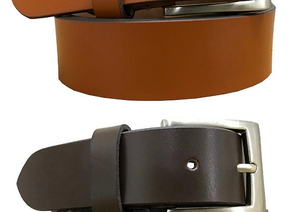 BRADLEY CROMPTON Mens Multipack Tan Brown & Brown (Set of 2 Belts) Leather Belts