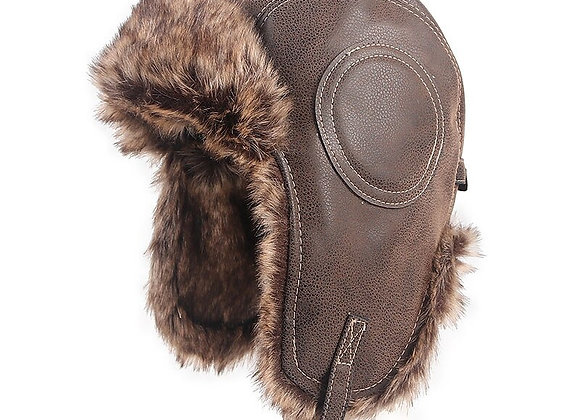 High Quality Russian Leather Bomber Hat