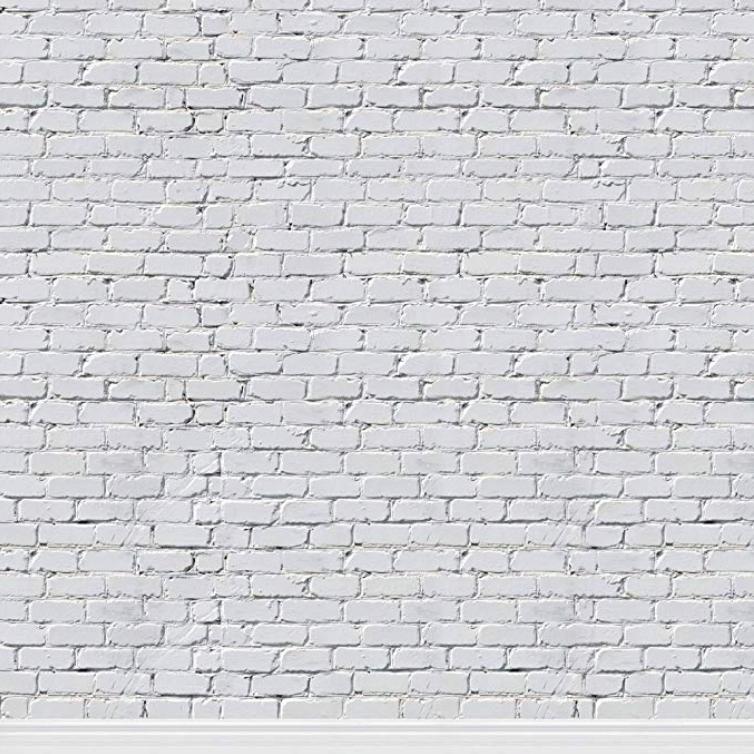 Mur brique blanc 8X8