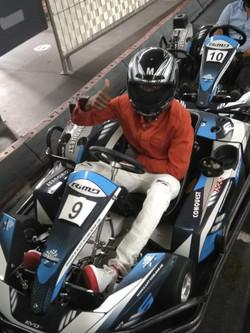 beim Kartfahren