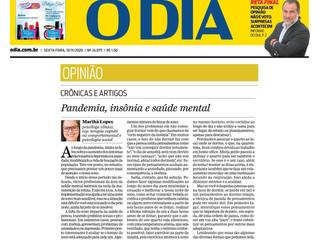 Pandemia, insônia e saúde mental
