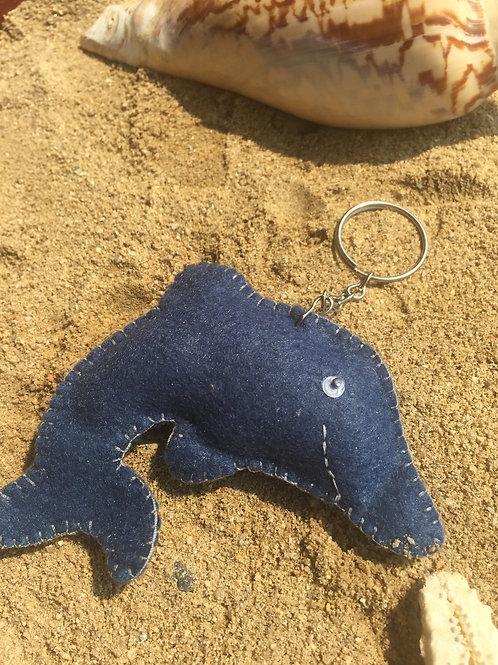 Chaveiro golfinho azul