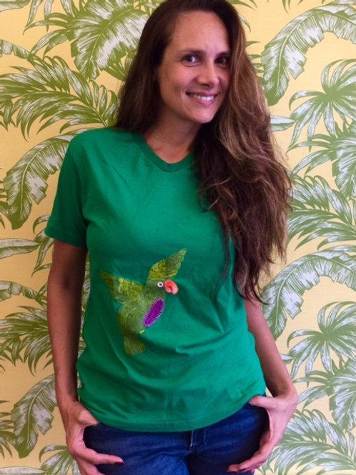 Camiseta Verde Patchwork
