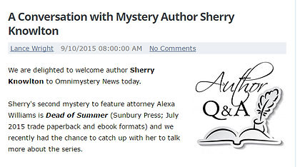 Sherry Knowlton featured in Omnimystery News