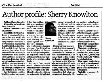Sherry Knowlton featured in the Carlisle Sentinel newspaper.