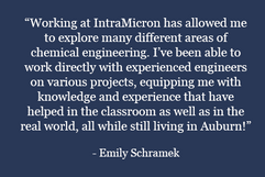 Emily Schramek Quote about IntraMicron
