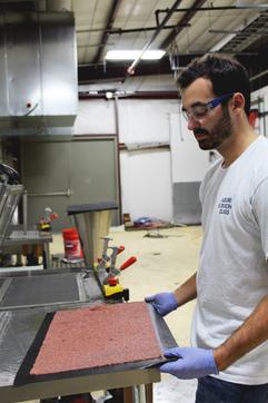 Steven Kevorkian making copper handsheets