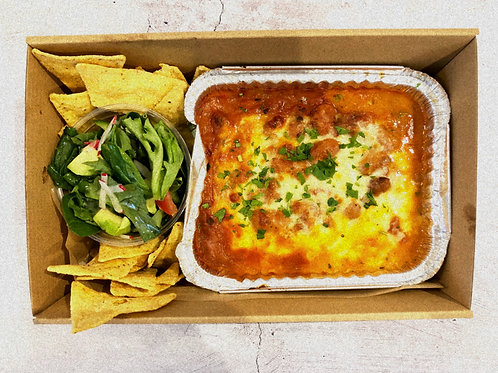 Staff Meals - Mexican 3 Bean Dip and Salad