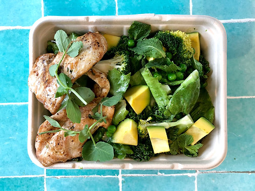Chicken Greens Salad Bowl Meal size