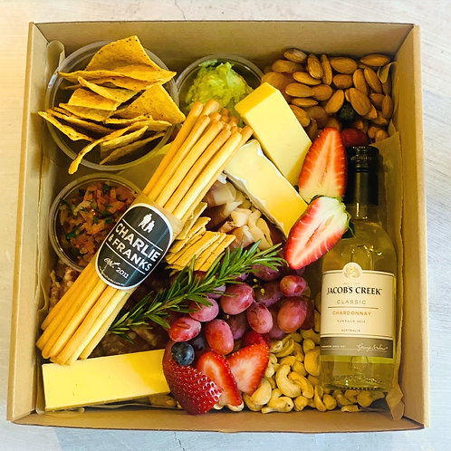 Individual Graze box & Wine Bottles