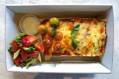 Staff Meals - Eggplant Parmigiana & Salad