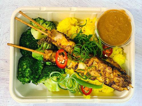 Staff Meals -Satay chicken skewers (GF, DF)