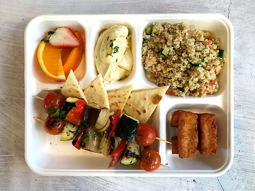 Lunch Veggie Kebabs Bento box