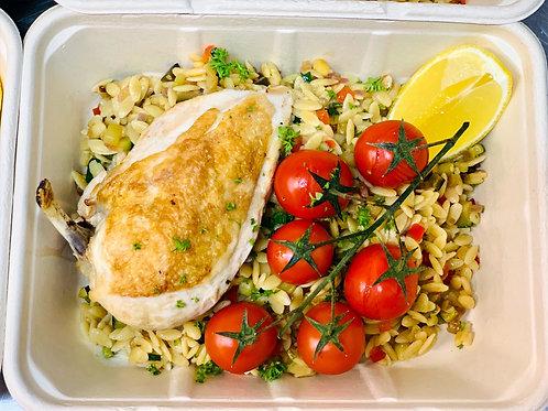 Staff Meals - Chicken Mediterranean Risoni