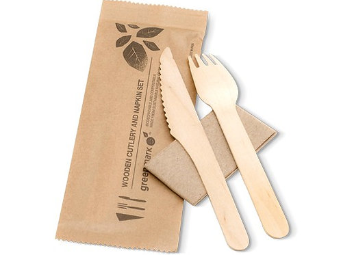 Fork, Knife, Napkin Set