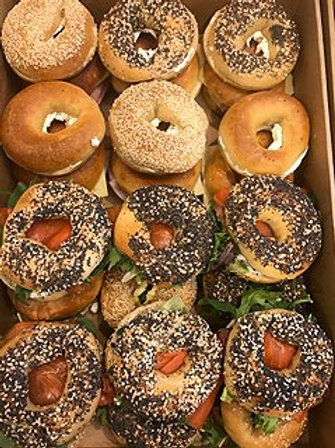 All day Cocktail Bagel Box - (Box 24) Assorted fillings