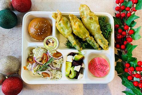 XMAS Lunch Zucchini Flower Bento Box
