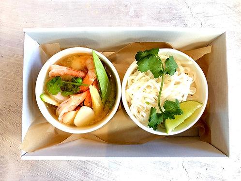 Staff Meals - Asian style Prawn Hot Pot