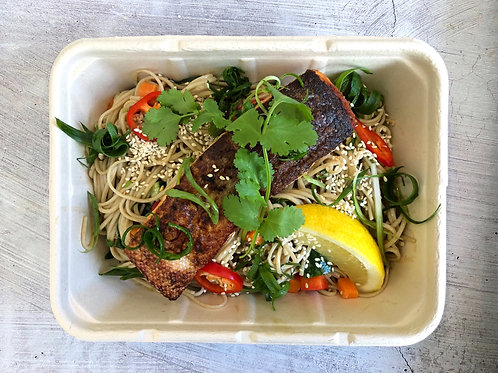 Staff Meals - Salmon Soba noodle Salad (GF)