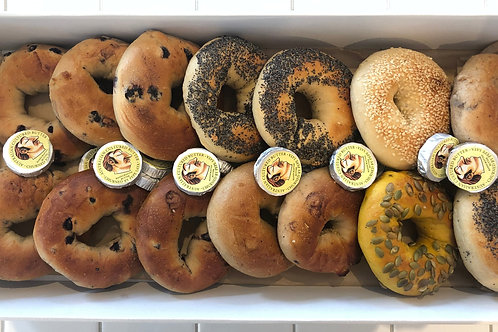 Fresh Bagels By Brooklyn Boy + Pepe Saya Butter