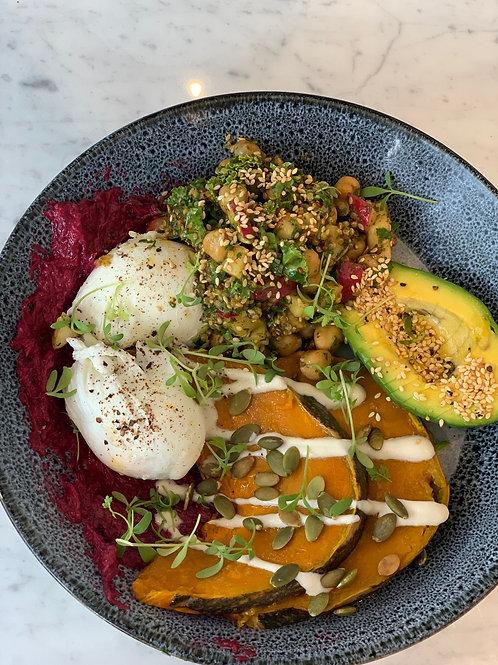 Staff Meals - Avocado Chickpea Buddha Bowl