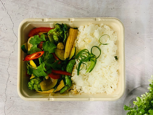 Staff Meals - Thai style Stir Fried Vegetables
