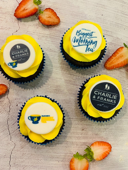 ​​​​​​​Classic Cupcakes with Company/Event Logo