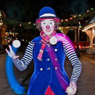 light up juggling performance