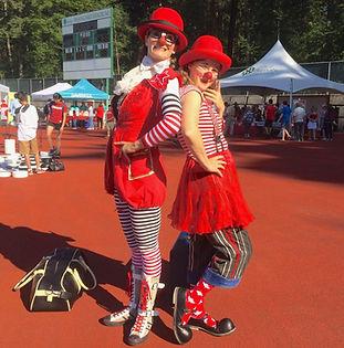 dynamic clown duo
