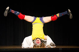 upside down clown act