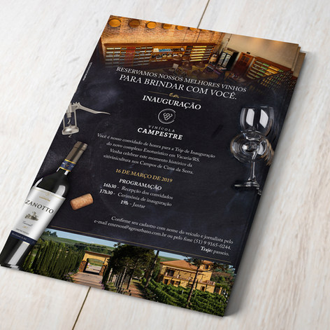 Convite de Inauguração da Vinícola Campestre