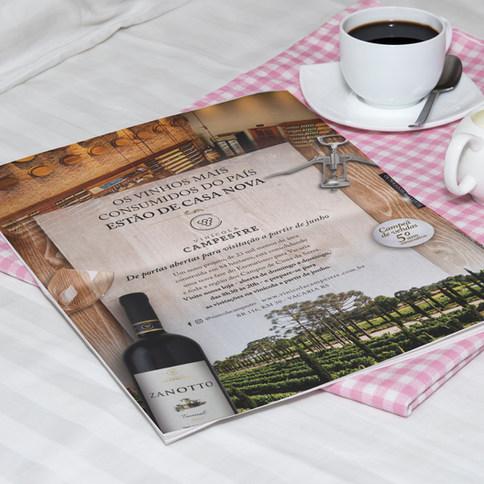 Anúncio de Inauguração da Vinícola Campestre