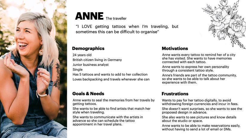 User Persona - Anne