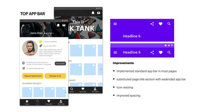 Ink Tank - Top App Bar