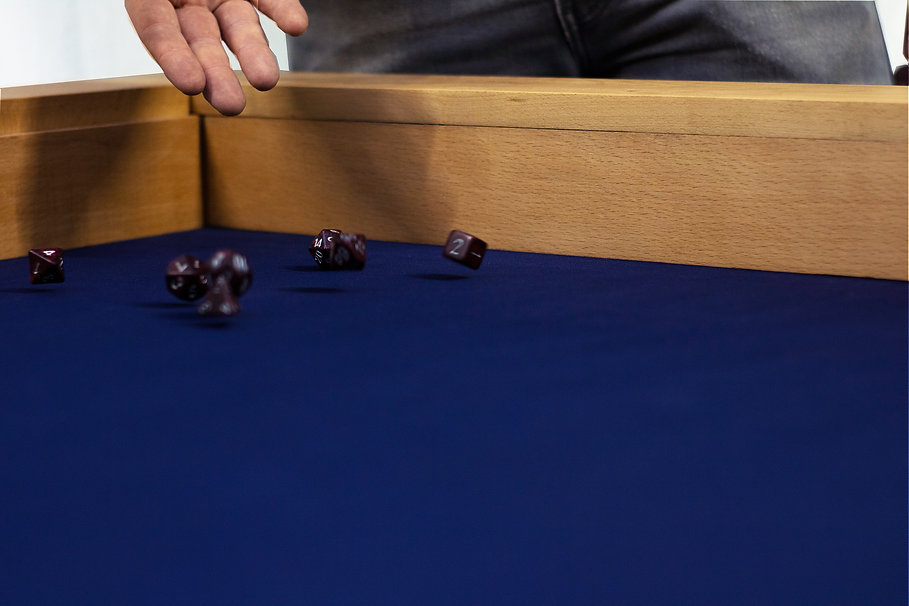 The Saorsa - dice rolling on the table