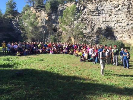 186 persones caminen per l'entorn del Parc dels Talls