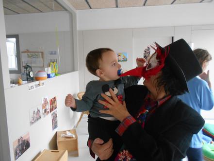 Visita del Rei Carnestoltes a l'escola bressol