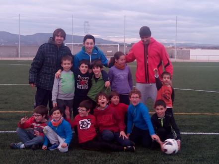Entrenaments al camp de futbol de les Cabanyes