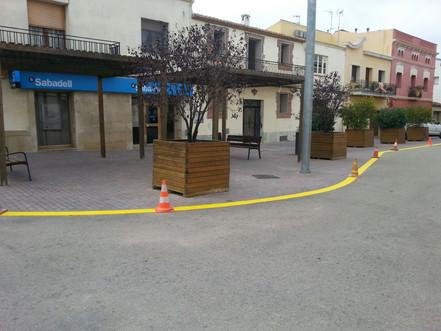 Més senyalització a la plaça Major