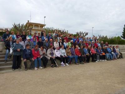 Caminada popular de la gent gran de l'Alt Penedès a Vilobí