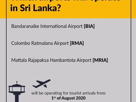 Post Covid-19 (2) - Which airports will operate in Sri Lanka