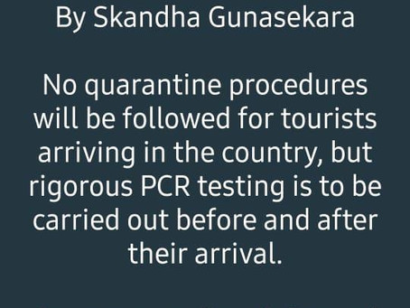 PCR test for tourists at Sri Lanka airport on arrival